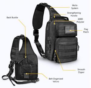 Military Rover Shoulder Sling Backpack Molle Range Bag